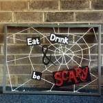 Halloween Cobweb Frame Decoration